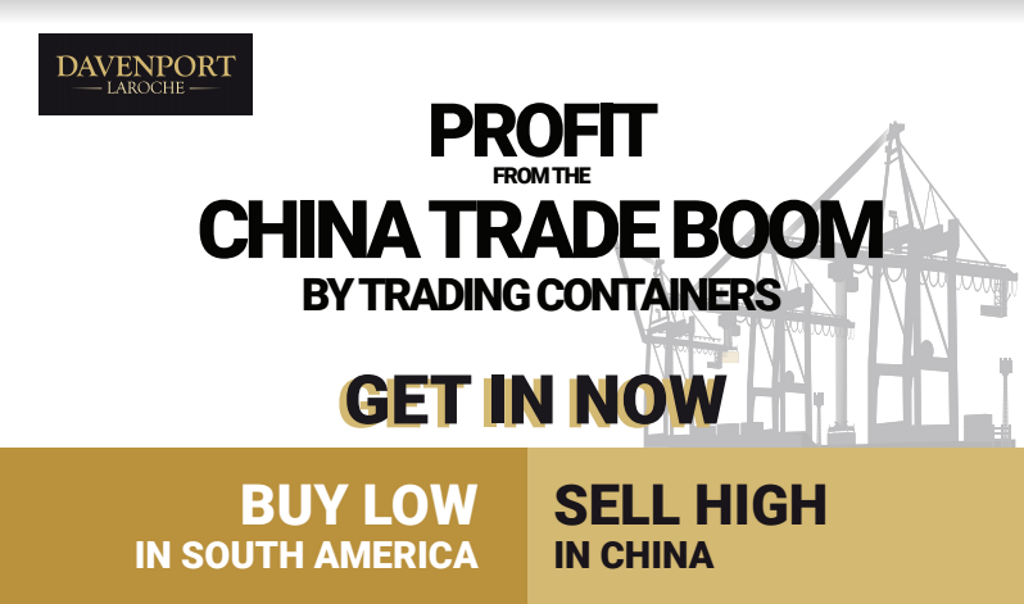 Profit From China's Drop in Shipping Container Production